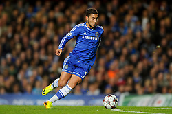 Chelsea Midfielder Eden Hazard (BEL) in action during the first half of the match - Photo mandatory by-line: Rogan Thomson/JMP - Tel: 07966 386802 - 18/09/2013 - SPORT - FOOTBALL - Stamford Bridge, London - Chelsea v FC Basel - UEFA Champions League Group E