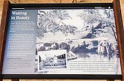 Interpretive display at Manzanar National Historic Site, Lone Pine, California USA