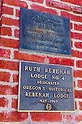 Odd Fellows and Rebekah Lodges, Jacksonville, Oregon USA