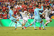 Manchester United Forward Anthony Martial shoots at goal during the International Champions Cup match between Barcelona and Manchester United at FedEx Field, Landover, United States on 26 July 2017.