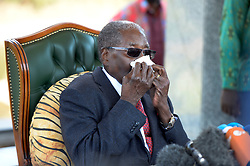 29/07/2018:Zimbabwe,Harare.Former president Robert Mugabe during a media briefing on the eve of July harmonised elections at his Blue Roof residence.984<br /> Picture: Matthews Baloyi/AFrican News Agency (ANA)
