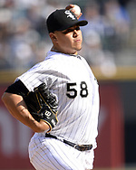 CHICAGO - APRIL 06:  Manny Banuelos #58 of the Chicago White Sox pitches against the Seattle Mariners on April 6, 2019 at Guaranteed Rate Field in Chicago, Illinois.  (Photo by Ron Vesely)  Subject:  Manny Banuelos