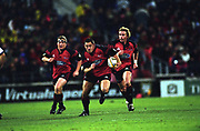 Mark Hammett in action during the rugby union Super 12 final between the Crusaders and Brumbies, Jade Stadium, Christchurch, 25 May, 2002. Photo: PHOTOSPORT