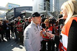 February 27, 2017 - Barcelona, Spain - Motorsports: FIA Formula One World Championship 2017, Test in Barcelona,.#77 Valtteri Bottas (FIN, Mercedes AMG Petronas) talking to Media  (Credit Image: © Hoch Zwei via ZUMA Wire)