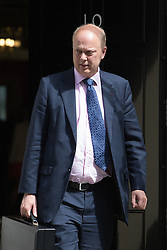 Downing Street, London, May 17th 2016. Leader of the House of Commons Chris Grayling leaves the weekly cabinet meeting in Downing Street.