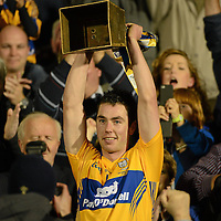 15 September 2012; Clare captain Conor McGrath lifts the cup. Bord Gáis Energy GAA Hurling Under 21 All-Ireland 'A' Championship Final, Clare v Kilkenny, Semple Stadium, Thurles, Co. Tipperary. Picture credit: Matt Browne / SPORTSFILE