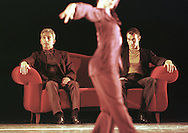 Gerard Lamaitre (left) and David Krügel in the Nederlands Dans Theater III's piece entitled 'New Age' playing at the Festival Theatre from 29/08 to 02/09/00 as part of the Edinburgh International Festival.