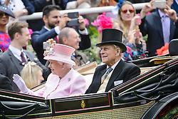 File photo of Prince Philip, the Duke of Edinburgh, pictured with Queen Elizabeth at Royal Ascot 2016, at Ascot Racecourse. Picture date: June 15th, 2016. Photo credit should read: Matt Crossick/ EMPICS