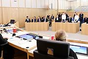 Koning Willem-Alexander bij de opening van het nieuwe gerechtsgebouw in Breda. Aanleiding voor de nieuwbouw, die ruim twee jaar in beslag nam, was een sterke toename in het aantal rechtszaken. <br /> <br /> King Willem-Alexander at the opening of the new courthouse in Breda. The reason for the new building, which took more than two years, was a sharp increase in the number of lawsuits.