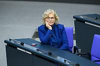 08 DEC 2020, BERLIN/GERMANY:<br /> Christine Lambrecht, SPD, Bundesjutizministerin, Haushaltsdebatte, Plenum, Reichstagsgebaeude, Deuscher Bundestag<br /> IMAGE: 20201208-02-011