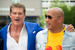 May 30, 2017 - Berlin, Berlin, Deutschland - David Hasselhoff and Dwayne Johnson at the 'Baywatch' photocall at Sony Center on May 30, 2017 in Berlin, Germany. (Credit Image: © Future-Image via ZUMA Press)