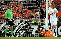 EURO 2008 Quarter Final  St Jakobs Park Basel M27  Netherlands v Russia 21/06/2008<br /> 1:1 Tor durch Ruud van Nistelrooy Niederlande, links Torwart Igor Akinfeev, rechts Sergey Ignashevich<br /> Russland - Nederland<br /> <br /> Norway only