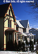 House facades, White Haven, Luzerne Co., PA