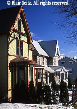 House facades, White Haven, Luzerne Co., PA