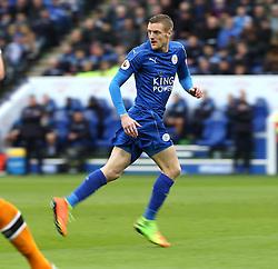 04 March 2017 Leicester : Premier League Football ; Leicester City v Hull City :<br /> Jamie Vardy of Leicester .<br /> Photo: Mark Leech