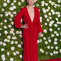 Olivia Wilde arrives to the 2017 Tony Awards in New York City.