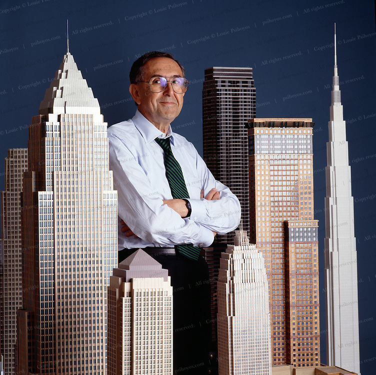 Cesar Pelli, designed some of the world's biggest buildings.  Photographed at Cesar Pelli & Associates in New Haven, CT.<br /> .