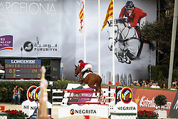 Davis Lucy (USA) - Baron<br /> Team consolation competition<br /> Furusiyya FEI Nations Cup Jumping Final<br /> CSIO Barcelona 2013<br /> © Dirk Caremans