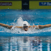 Katinka Hosszu of Hungary competes during the Women's 200m Individual Medley final at the FINA Champions Swim Series at the Danube Arena in Budapest, Hungary on May 12, 2019. ATTILA VOLGYI