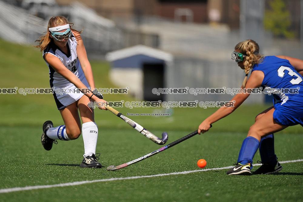 Staples High School Field Hockey..Westport defeats Hall 2-1 in final seconds of the game..Callie Hiner (SR)(C)