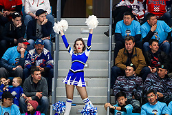 Cheerleader during ice hockey match between Slovenia and Kazakhstan at IIHF World Championship DIV. I Group A Kazakhstan 2019, on April 29, 2019 in Barys Arena, Nur-Sultan, Kazakhstan. Photo by Matic Klansek Velej / Sportida