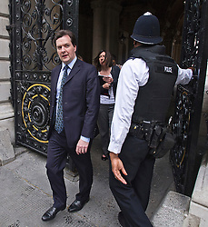 **CAPTION CORRECTION. INCORRECT DATE ON PREVIOUS TRANSMISSION** © London News Pictures. 04/07/2012. London, UK.  British Chancellor of the Exchequer George Osborne entering Downing Street in London, on July 4, 2012.  Photo credit: Ben Cawthra/LNP