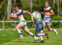 Whitehavens' Chris Taylor in action during todays match<br /> <br /> Photographer Craig Thomas/Replay Images<br /> <br /> Betfred League 1 - West Wales Raiders v Whitehaven  - Saturday 23rd June 2018 - Stebonheath Park - Llanelli<br /> <br /> World Copyright © 2017 Replay Images. All rights reserved. info@replayimages.co.uk - www.replayimages.co.uk