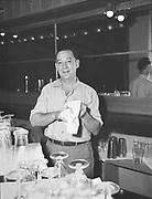 "ackroyd-00083-022. ""Timberline Lodge personnel. November 28, 1945"" ""Earl E. Wilson - Blue Ox Bar"""