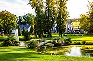 18-09-2015: Golf & Spa Resort Konopiste in Benesov, Tsjechië.<br /> Foto: Rechts de green van de achttiende