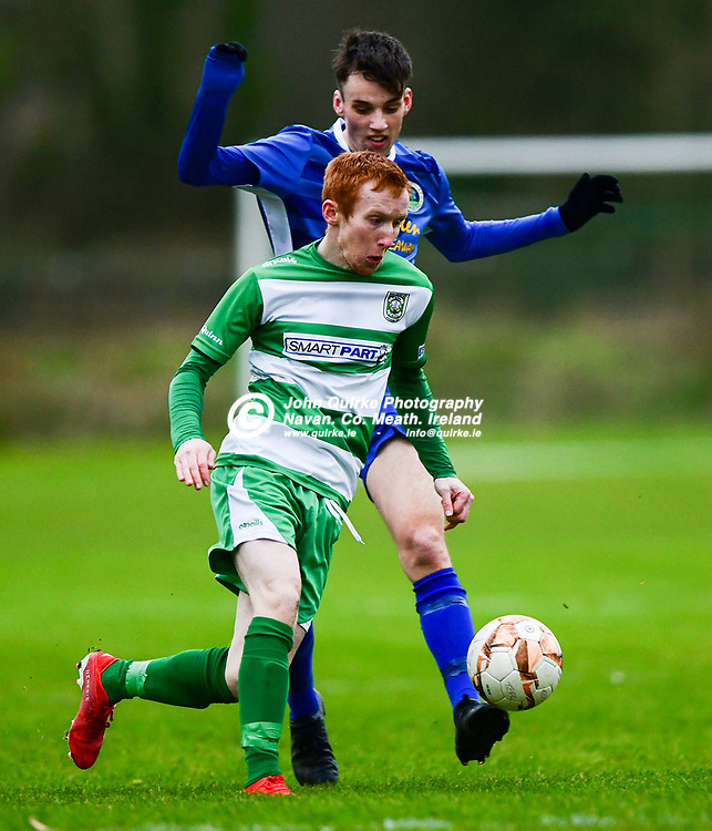 Trim celtic's Dean Courtney races forward   in the Trim Celtic v Bluebell Utd, Leinster Junior Cup match in Trim<br /> <br /> Photo: GERRY SHANAHAN-WWW.QUIRKE.IE<br /> <br /> 08-02-2020