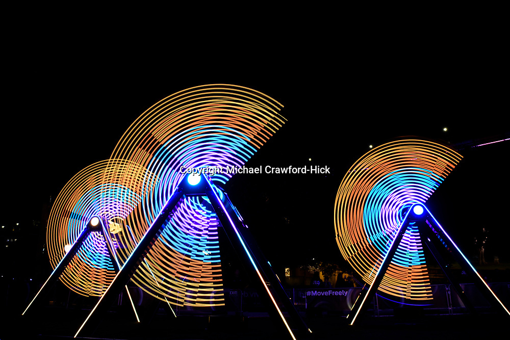 Swings with LEDS Light for Vivid Sydney 2017