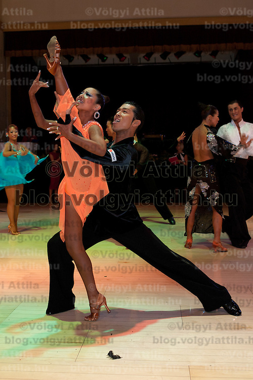 Masashi Shibanishi and Maria Kishimoto from Japan perform their dance during the Professional Rising Stars Latin competition of the Blacpool Danca Festival is the most famous event among dance competiptions held in Blackpool, United Kingdom on May 27, 2011. ATTILA VOLGYI