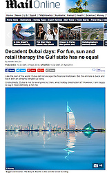 The Mail Online; Skyline of Dubai