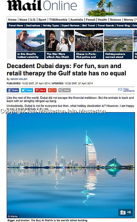 The Mail Online; Skyline of Dubai