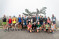 High Point, New Jersey -  Runners at the start of the Shawangunk Ridge Trail Run/Hike 70-mile race at High Point State Park on Sept. 14, 2018.