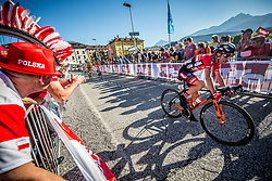 BRKIC Benjamin of Austria during the Men Under 23 Road Race 179.9km Race from Kufstein to Innsbruck 582m at the 91st UCI Road World Championships 2018 / RR / RWC / on September 28, 2018 in Innsbruck, Austria.  Photo by Vid Ponikvar / Sportida