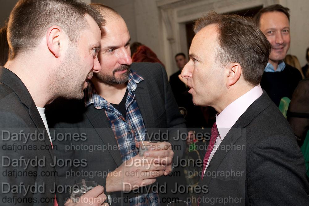 TONNY GLISMAND; KARL RUDIGER ROSSELL, TONY CHAMBERS, Wallpaper Design Awards 2012. 10 Trinity Square<br /> London,  11 January 2011.
