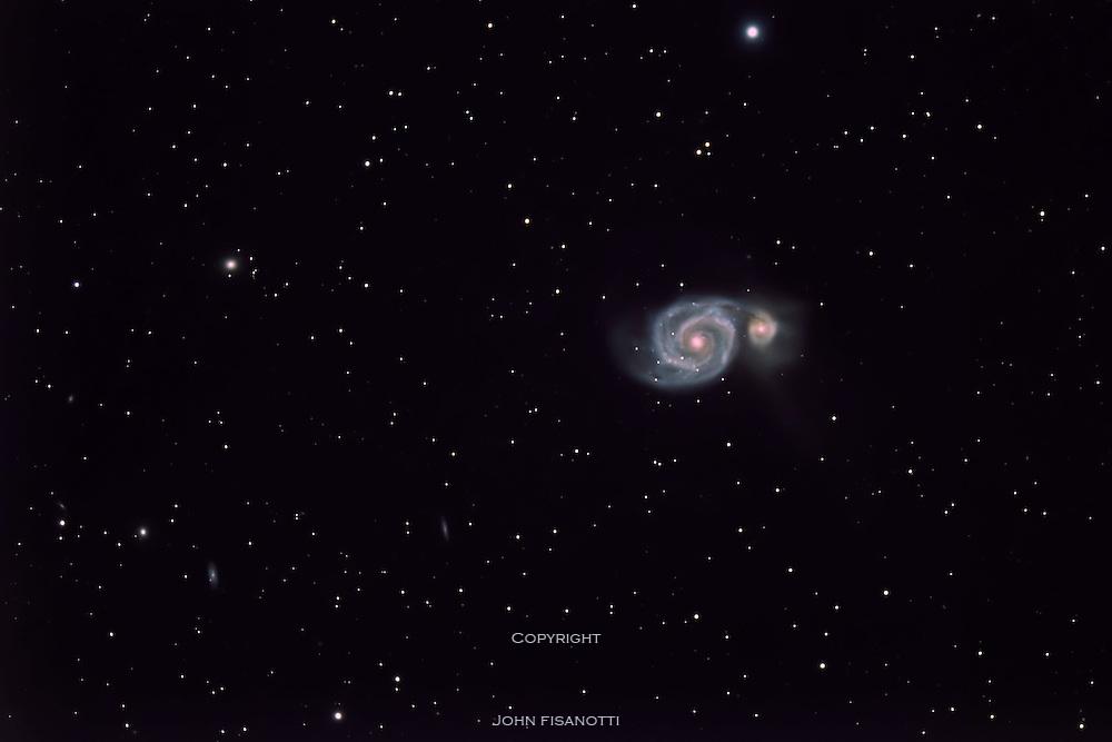 Whirlpool Galaxy, (M51) in Canes Venatici