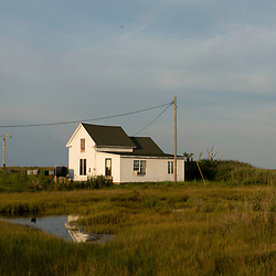 August 4, 2017 - Tangier Island, VA - Pockets of marshland are seen in almost every view of Tangier Island. <br /> Photo by Susana Raab/Institute