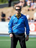 UTRECHT -  Paul vd Assum met   de finale van de play-offs om de landtitel tussen de heren van Kampong en Amsterdam (3-1). COPYRIGHT  KOEN SUYK