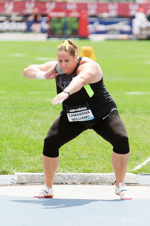 Samsung Diamond League adidas Grand Prix track & field; Women's Shot Put, Jillian Camarena-Williams, USA