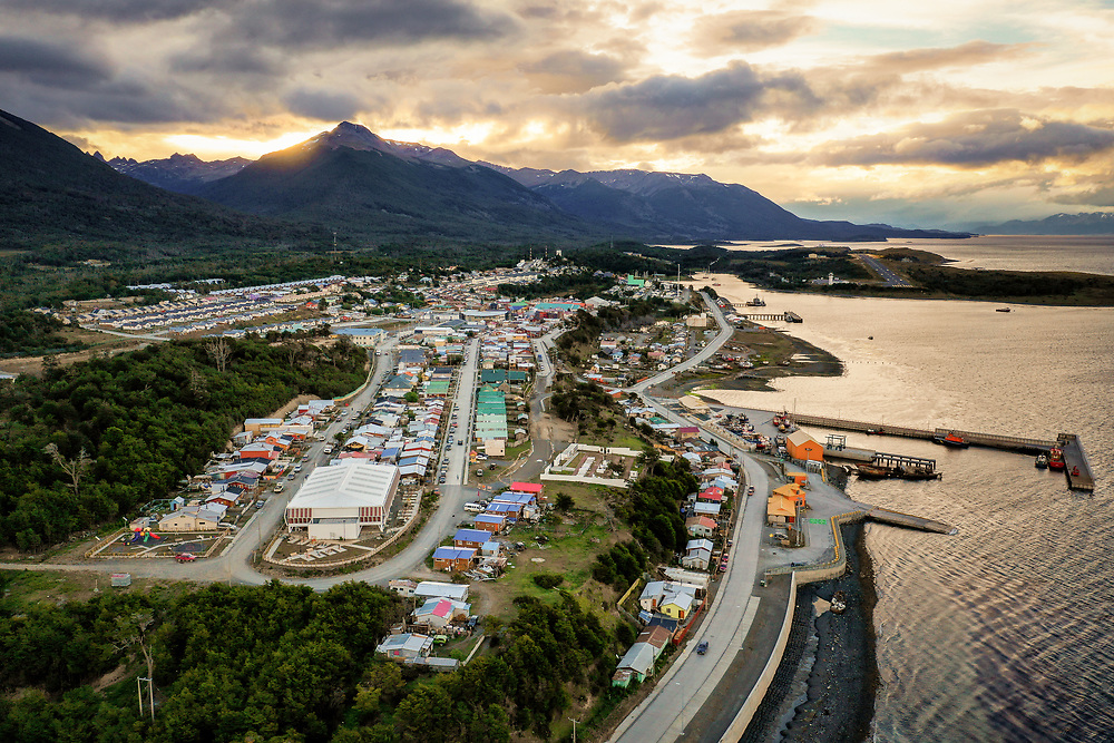 Sunset over Puerto Williams, Chile