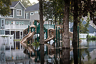 Flooded park in Socastee, South Carolina following Hurricane Florence.