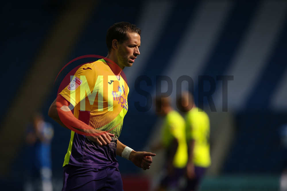 Aaron Martin of Exeter City seen before kick off - Mandatory by-line: Arron Gent/JMP - 18/06/2020 - FOOTBALL - JobServe Community Stadium - Colchester, England - Colchester United v Exeter City - Sky Bet League Two Play-off 1st Leg