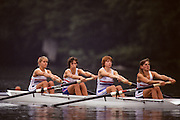 Lucerne, SWITZERLAND  GBR W4-, Bow. Karen MARWICK, Rachel HIRST, Joanne TURVEY and Phillippa CROSS, 1992 FISA World Cup Regatta, Lucerne. Lake Rotsee.  [Mandatory Credit: Peter Spurrier: Intersport Images] 1992 Lucerne International Regatta and World Cup, Switzerland