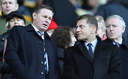 Millwall chief executive Steve Kavanagh (left) and director Constantine Gonticas in the stands