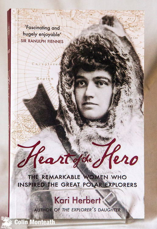 THE HEART OF THE HERO -  The remarkable women who inspired the great polar explorers, Kari Herbert, Saraband, Glasgow, 2013 , 318 page VG+ softbound, B&W plates, Arnold Heine bookplate inside, wonderful profiles of Emily Shackleton, Kathleen Scott, Jane Franklin, Eva Nansen, Jo Peary etc - terrific, well researched - $40 (Arnold Heine collection)