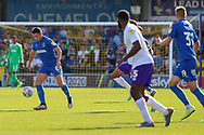 AFC Wimbledon midfielder Anthony Hartigan (8) controlling the ball during the EFL Sky Bet League 1 match between AFC Wimbledon and Shrewsbury Town at the Cherry Red Records Stadium, Kingston, England on 14 September 2019.