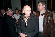 RICHARD O'BRIEN, PARTY AFTER THE OPENING OF SWEET CHARITY.  National Portrait Gallery cafe. London. 4 May 2010.  *** Local Caption *** -DO NOT ARCHIVE-© Copyright Photograph by Dafydd Jones. 248 Clapham Rd. London SW9 0PZ. Tel 0207 820 0771. www.dafjones.com.<br /> RICHARD O'BRIEN, PARTY AFTER THE OPENING OF SWEET CHARITY.  National Portrait Gallery cafe. London. 4 May 2010.