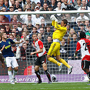 NLD/Rotterdam/20100919 - Voetbalwedstrijd Feyenoord - Ajax 2010, vangbal van keeper Maarten Steklenburg